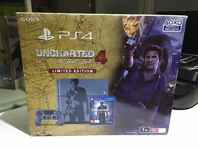 AU245 • Buy PS4 Uncharted 4 Limited Edition Console BNIB, Opened Box, No Game.