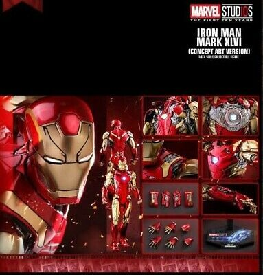 $ CDN475.61 • Buy Hot Toys MMS 489 D25 Iron Man Mark 46 XLVI Diecast Concept Art Version 1/6