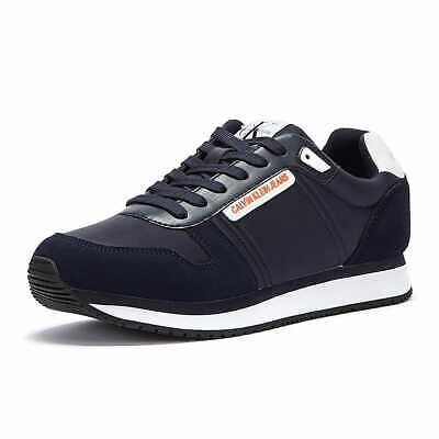 £53 • Buy Calvin Klein Jeans PU Nylon Runner Mens Navy Trainers Casual Comfortable Shoes