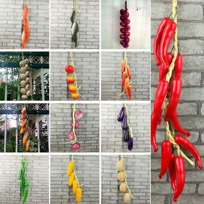 £5.87 • Buy Artificial Vegetable Fish String Simulation Onion Garlic Kitchen Hanging Decors