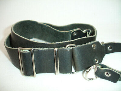 LEATHER CAMERA NECK STRAP , With Lug Rings , Black , 1.25  Wide, Vintage,  #4030 • 17.10£