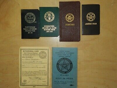 $49.95 • Buy LOT,Vintage HOTEL WORKERS,/CLERKS,+INTL ASSOC.MACHINISTS, Labor Union Dues Book