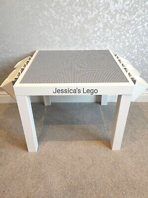 £44.99 • Buy LEGO Table All GREY Base Plate Organised Storage Play Set Up Personalised