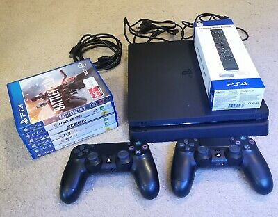 AU420 • Buy Sony PlayStation 4 PS4 Slim 1TB Console - Black + Controllers + Games + Remote