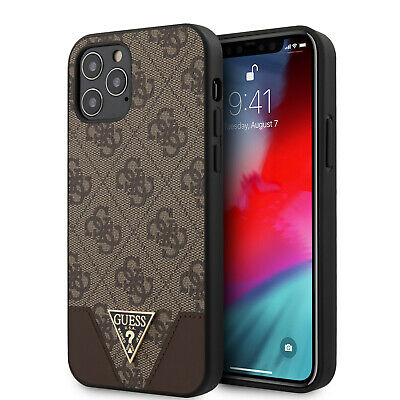 £25.59 • Buy GUESS IPhone 12 Pro Max Hülle 4G Triangl Collection Logo Case Cover Braun