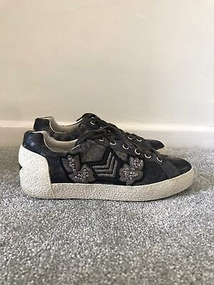 £34.99 • Buy Ash Trainers Size 5 Black Lace Up Casual Shoes Low Top Sneakers EU 38