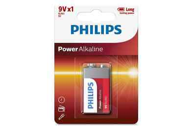 AU5.99 • Buy Philips 9V Alkaline Battery 6LR61   Batteries More Power Exp 12/2025