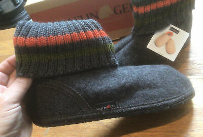 £23.99 • Buy Haflinger Wool Slippers Paul Anthracite Size 9/42 Brand New In Box