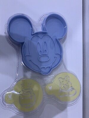 Disney Mickey Mouse Character Cookie Cutter And Stencil Set. New • 3.99£
