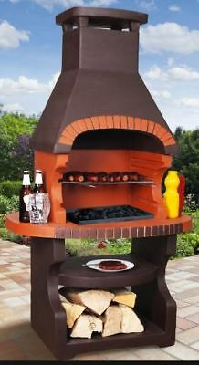 £499 • Buy Masonry BBQ Barbecue Garden Grill Fireplace Wood And Charcoal Cooking Massive
