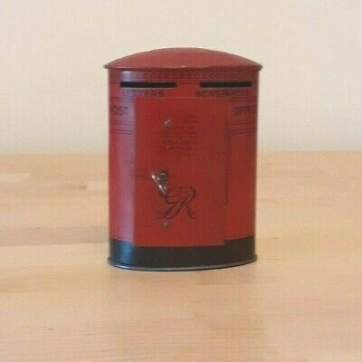 £9.95 • Buy Vintage Collectable Lockable Money Box And Key, Chad Valley Oval Post Box1937/52
