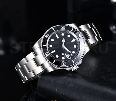£65 • Buy Quality Automatic 40mm Black Submariner Sub Homage Watch With Ceramic Bezel 316L
