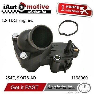 £15.99 • Buy FORD FOCUS TRANSIT CONNECT GALAXY MONDEO 1.8 TDCi THERMOSTAT HOUSING COMPLETE