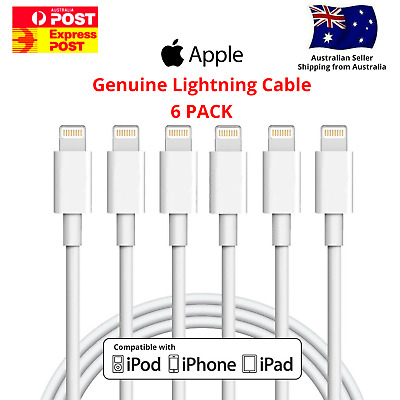 AU6.95 • Buy Genuine Apple USB Lightning Charger Cable Cord Data IPhone IPad 5 6 7 8 X XR XS