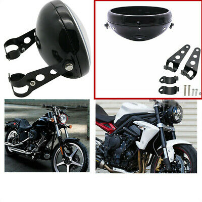AU53.39 • Buy Round Motorcycle 7 Inch LED Headlight Mounting Housing Bucket Metal For Motors