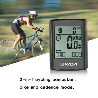 $ CDN30.24 • Buy Water-resistant 2-in-1 Wireless LCD Bicycle Cycling Computer Speed Cadence X8O5