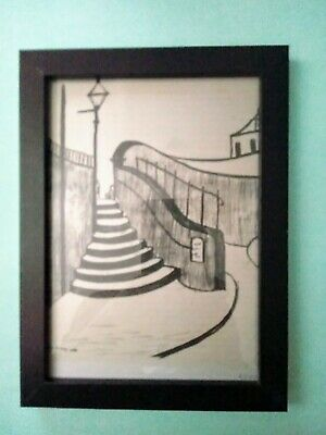 £9.85 • Buy Ls Lowry Old Steps,Stockport Signed & Dated  Framed Print.