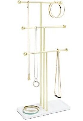 £19.99 • Buy Stand Tree Hanging Jewelry Organizer– 3 Tier Extra Tall Tabletop Necklace Holder