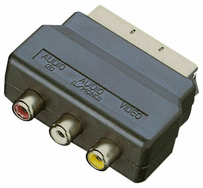 £2.99 • Buy RGB SCART Plug Male To 3 RCA Female A/V Adaptor Converter For TV DVD VCRs
