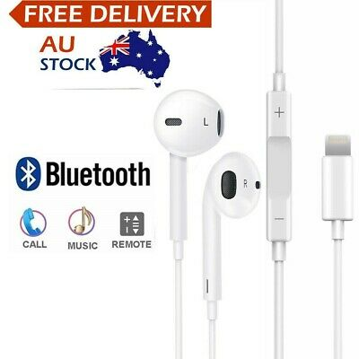 AU8.85 • Buy Wired Bluetooth 8pin Earphones Headphones Mic For Apple IPhone12 11 8 7 X Xs XR