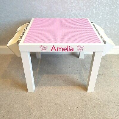 £44.99 • Buy Lego Table All Pink Base Plate Organised Storage Play Set Up Personalised