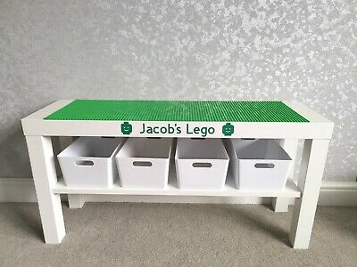£48.99 • Buy LEGO Table All Green Base Plates Organised Storage Play Set Up Personalised