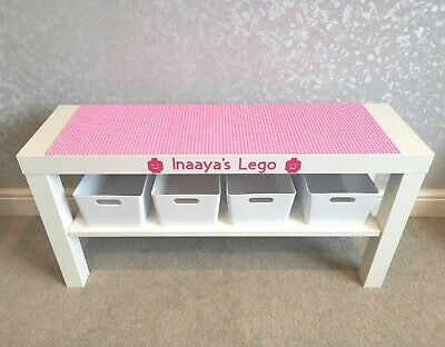 £48.99 • Buy LEGO Table All Pink Base Plates Organised Storage Play Set Up Personalised
