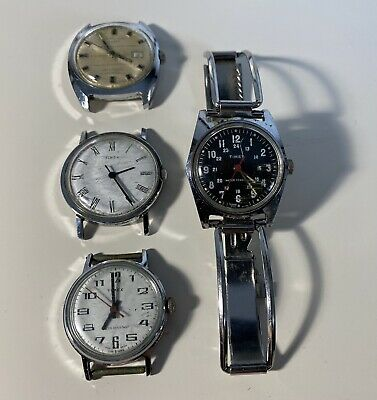 $ CDN54.45 • Buy Lot Of Vintage Timex Watches 4 Pieces ‼️NOT WORKING FOR PARTS OR RESTAURANTS ‼️