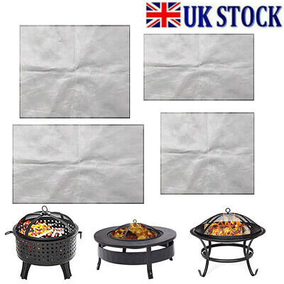 £8.99 • Buy Grill Pad Fireproof Fire Pit Mat Protector For Camping Patio Lawn Protection UK