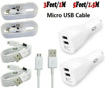 $ CDN7.25 • Buy For Samsung Galaxy S7 S6 Edge Note5 Note 4 Car Fast Charger Micro USB Cable Cord