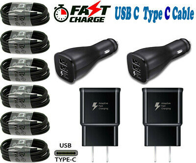 $ CDN18.19 • Buy For Samsung Galaxy S20 S10 S9 S8 Note8 Fast Wall Car Charger USB C Type-C Cable