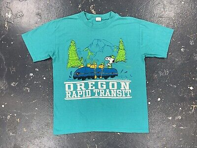 $ CDN72.79 • Buy Oregon Rapid Transit Snoopy T Shirt Vtg Peanuts Charlie Brown Artex 70s 80s USA