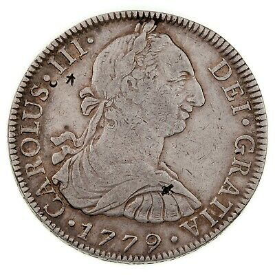 AU231.27 • Buy 1779 Mexico SPANISH COLONY 8 Reales In VF With Chop Marks, KM# 106.2
