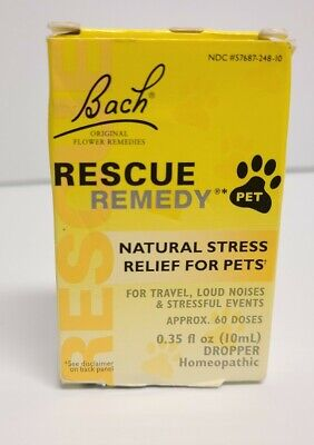Bach Pet Rescue Remedy Natural Stress Relief For Dogs And Cats 10 ML • 10.73£