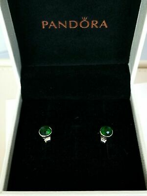 AU20 • Buy Pandora Earrings May Droplets, Royal Green Crystal #290738nrg