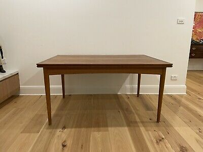 AU430 • Buy Original Selig Danish Mid-century Extendable Dining Table And 6 Chairs