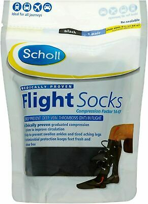 £15.99 • Buy Scholl Flight Compression Socks 1 Pair - ALL UK Sizes, Black - Brand New