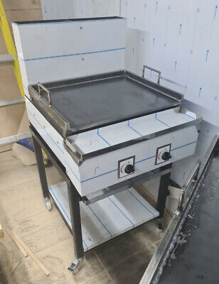 £925 • Buy 2 Burner Gas Smash Burger Grill Dosa Plate Heavy Duty Commercial Use