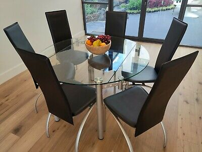 AU149 • Buy MOVING SALE!! Dining Table And 6 Chairs BRESCIA FURNITURE 122cm X 75cm