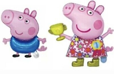£3.90 • Buy Peppa & George Pig Inflatable Air Balloons Kids Party Decorations