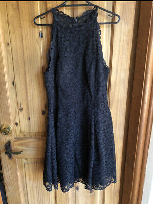 AU27 • Buy Forever New Black Lace Dress Size 12 Cocktail Evening Wedding Party