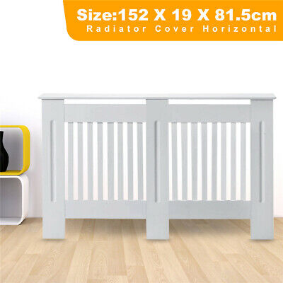 £36.99 • Buy Vertical Large White Radiator Cover White Painted Cabinet-MDF Wood Furniture