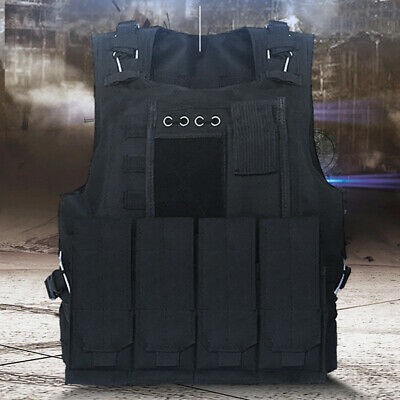 $39.99 • Buy Military Tactical Vest Gun Holder Combat Molle Army Assault Hunting Plate Gear