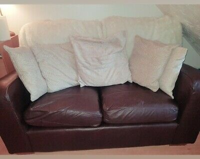 £60 • Buy Marks & Spencer - Leather 2 Seater Sofa & Armchair - Espresso Brown