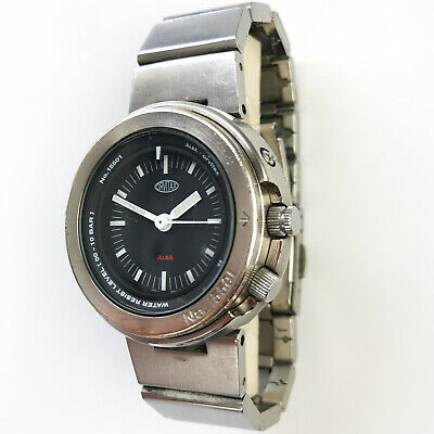 $ CDN99.17 • Buy Vintage SEIKO Orvitax Watch V701-2K10 Silver Steel Black Diver Tuna Prospex