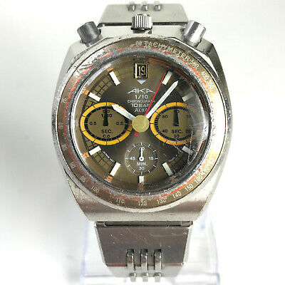 $ CDN162.44 • Buy Vintage Seiko AKA Bullhead Watch Chronograph V657-6060 Steel Citizen Brad Pit