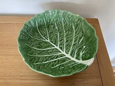 Green Cabbage Leaf Pottery Bowl Portugal • 5£