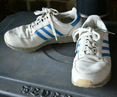 AU25.94 • Buy Vintage ADIDAS OREGON Trainers Sneakers Sports Shoes White Blue UK 7