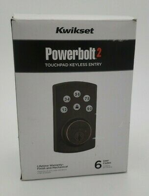 $ CDN48.39 • Buy Kwikset 99070-103 Powerbolt2 Electronic Deadbolt With Smartkey - Venetian Bronze