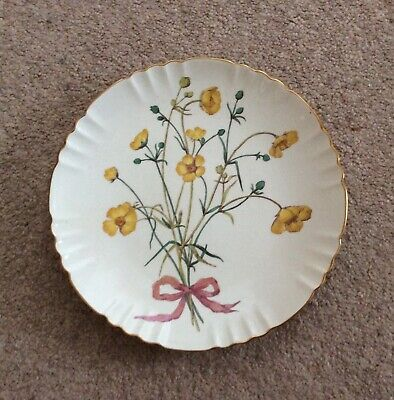 Antique Minton Cabinet/wall Plate With Tied Broom Flower Bouquet Design • 22£
